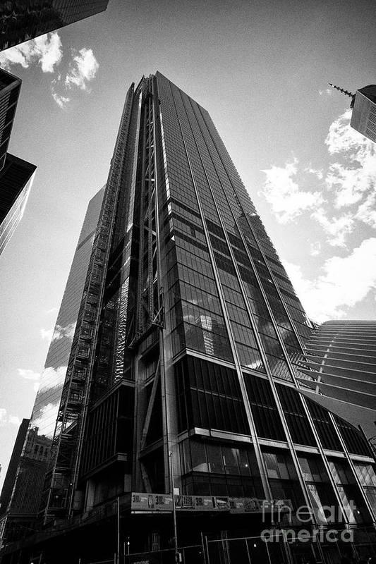 Three Art Print featuring the photograph three world trade center New York City USA by Joe Fox