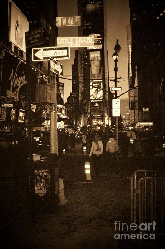 New York Art Print featuring the photograph Times Square by Debbi Granruth