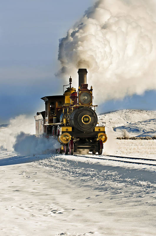 Train Art Print featuring the photograph Train In Winter by Scott Read