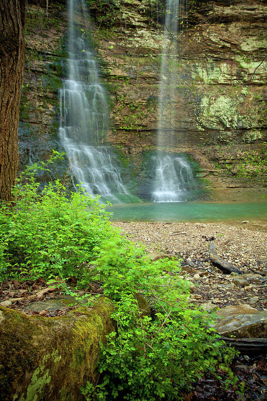 Landscape Print featuring the photograph Tripple Falls In Springtime by Iris Greenwell