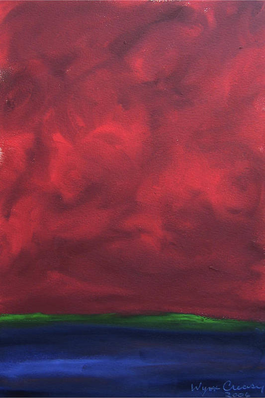 Abstract Landscape Art Print featuring the painting Turmoil by Wynn Creasy