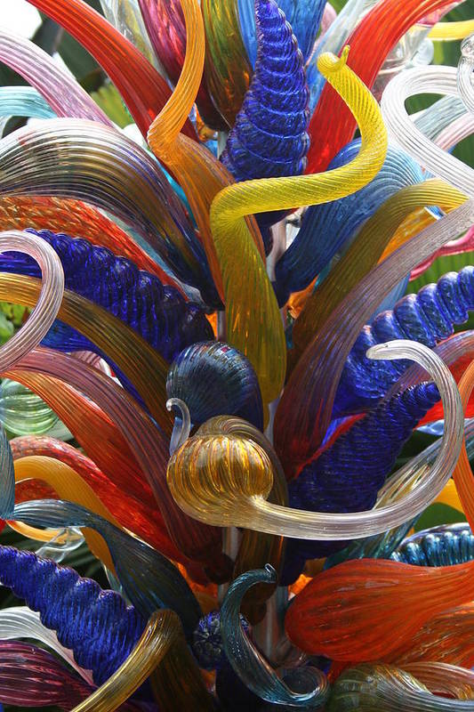 Glass Artwork Art Print featuring the photograph Twisted Colours by Allan E Dooley Jr