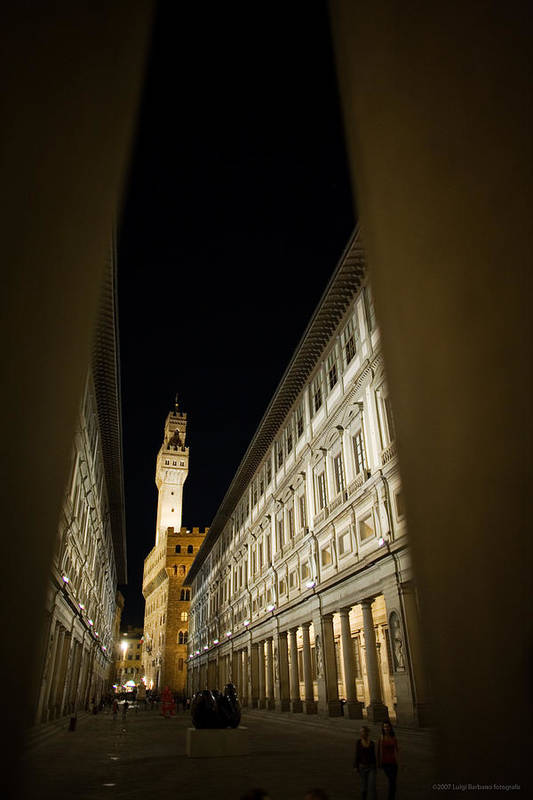 Italy Art Print featuring the photograph Uffizi by Luigi Barbano BARBANO LLC