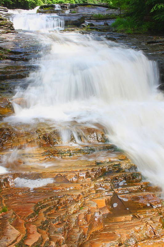 Waterfall Art Print featuring the photograph Umpachene Falls by John Burk