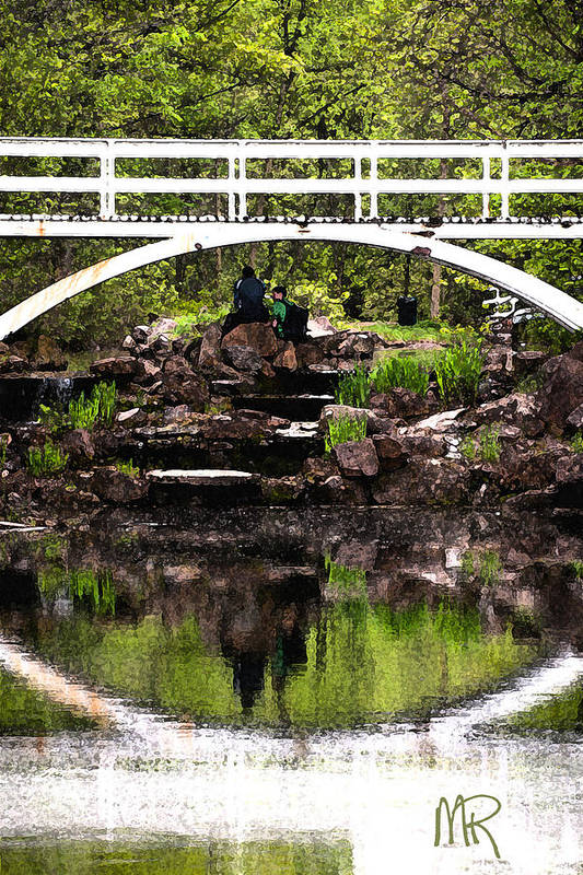 Photography Art Print featuring the pyrography Under The Bridge by Martin Rochefort