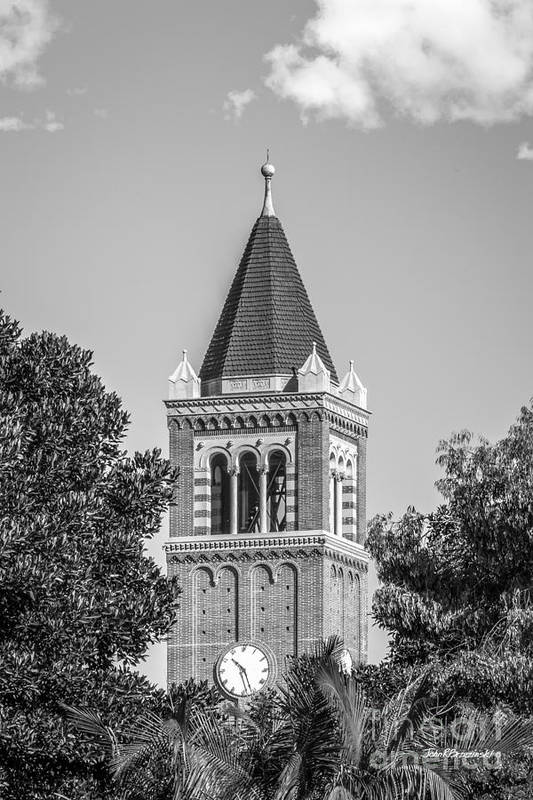 Aau Art Print featuring the photograph University Of Southern California Clock Tower by University Icons