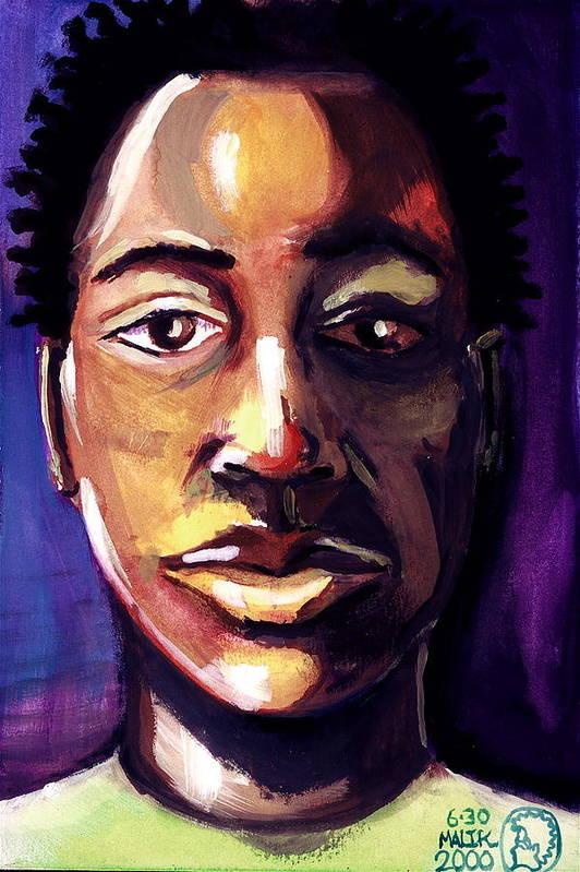 Art Print featuring the painting Untitled by Malik Seneferu