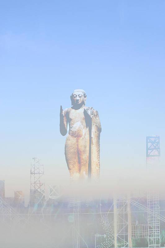 Buddha Art Print featuring the photograph Urban Buddha by Andy Mercer