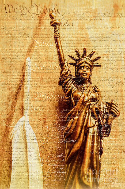 Liberty Art Print featuring the photograph Us Constitution by Jorgo Photography - Wall Art Gallery