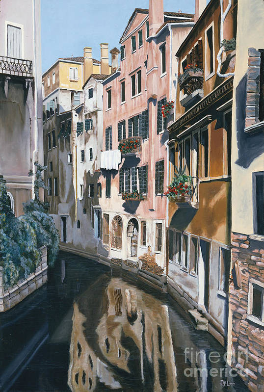 Venice Art Print featuring the painting Venice by Jiji Lee