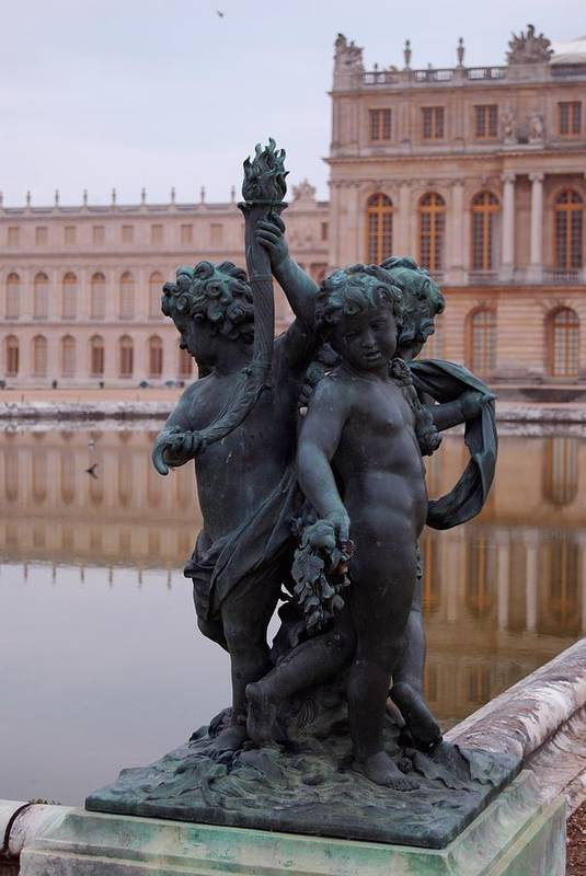 Water Art Print featuring the photograph Versailles Reflection Pool by Nancy Bradley
