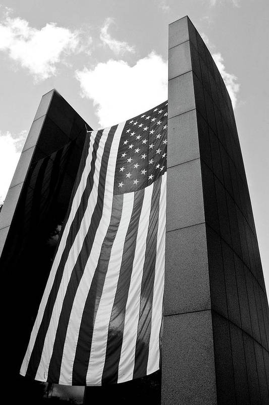 Black And White Photography Art Print featuring the photograph Viet Nam Veteran's Memorial by Wayne Denmark