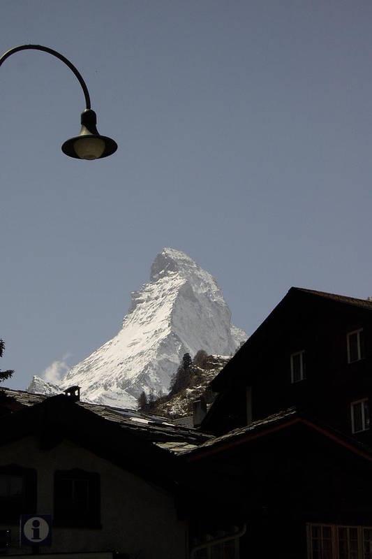 Matterhorn Art Print featuring the photograph View Of The Matterhorn From Zermat Switzerland by Nancy Sisco