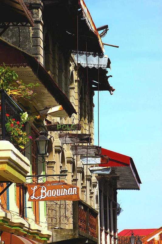Houses Art Print featuring the photograph Vigan Houses by Buds Convocar