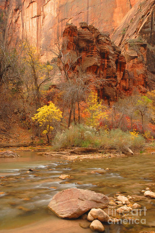 Utah Art Print featuring the photograph Virgin River At The Narrows by Dennis Hammer