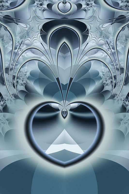 Fractal Art Print featuring the digital art Vision by Frederic Durville