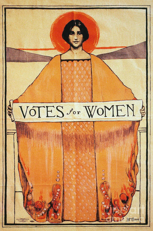 1911 Art Print featuring the photograph Votes For Women, 1911 by Granger