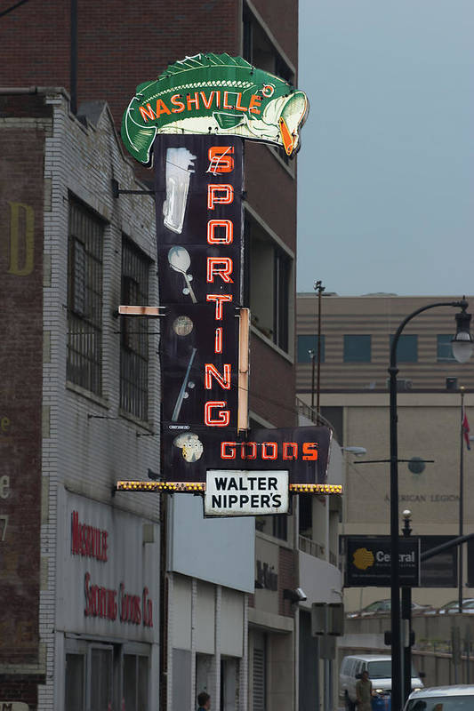 Sporting Art Print featuring the photograph Walter Nippers Sporting Goods by Grant Groberg