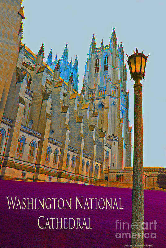 Washington Art Print featuring the photograph Washington National Cathedral Travel by Jost Houk