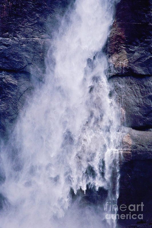 Waterfall Art Print featuring the photograph Water Drops by Kathy McClure
