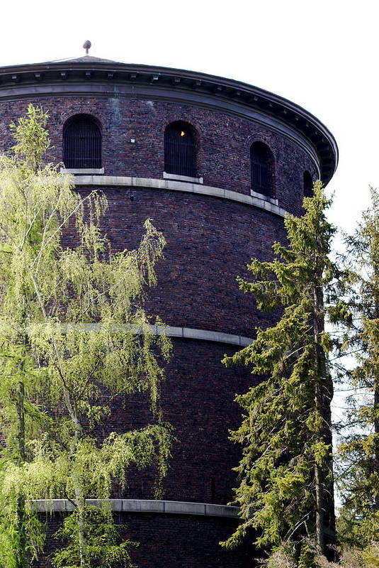Historic Water Tower Art Print featuring the photograph Water Tower by Sonja Anderson