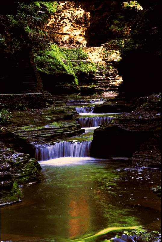 Gorge Art Print featuring the photograph Watkins Glen Gorge In Summer by Roger Soule