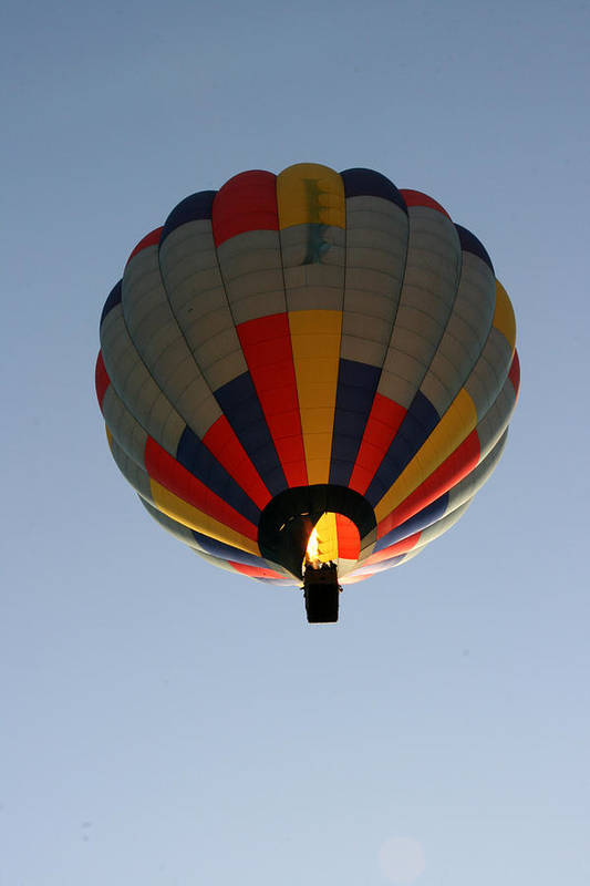 Hot Air Balloon Art Print featuring the photograph Way Up High by George Jones