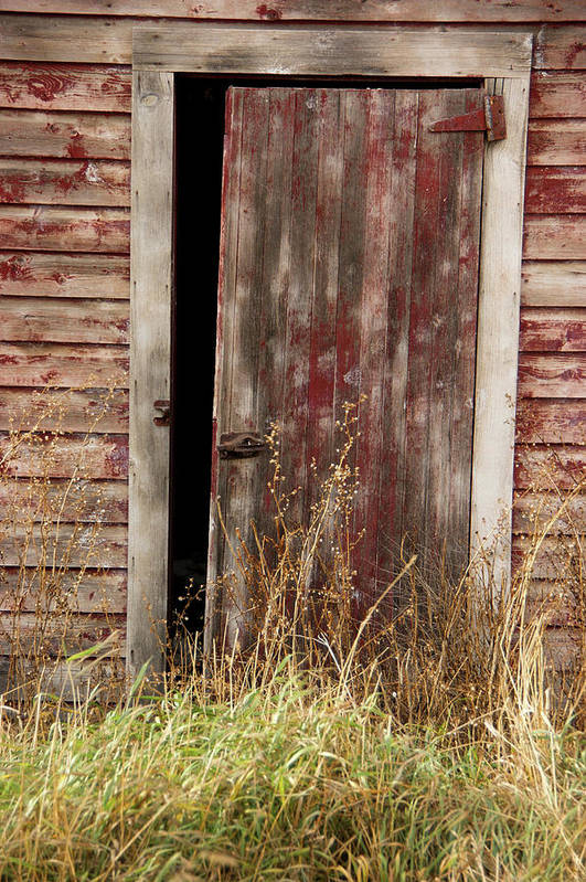 Door Art Print featuring the photograph Weathered Entrance by Tingy Wende