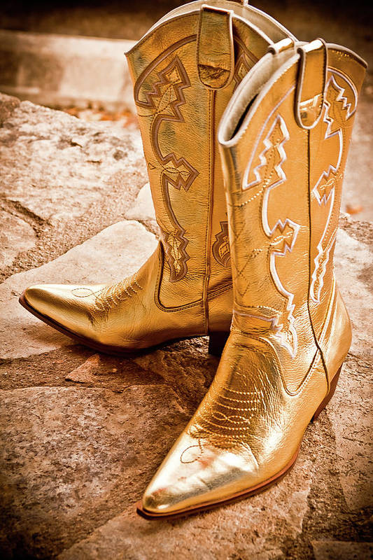 Boots Print featuring the photograph Western Wear by Jill Smith