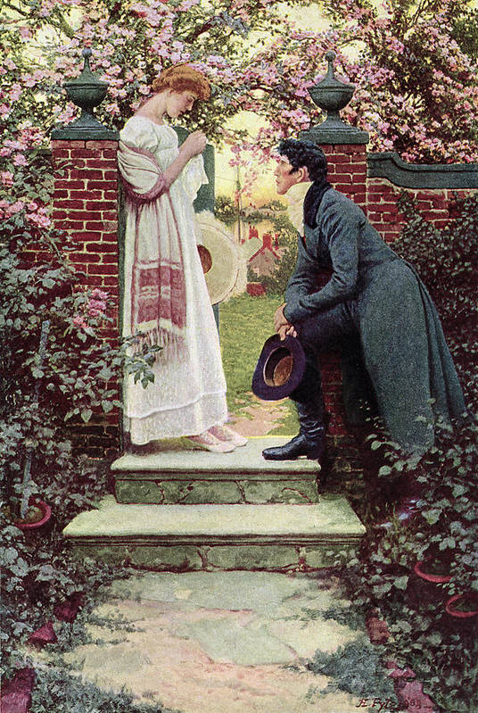 Dating Art Print featuring the painting When All The World Seemed Young by Howard Pyle