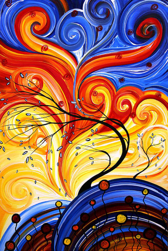 Abstract Art Print featuring the painting Whirlwind By Madart by Megan Duncanson