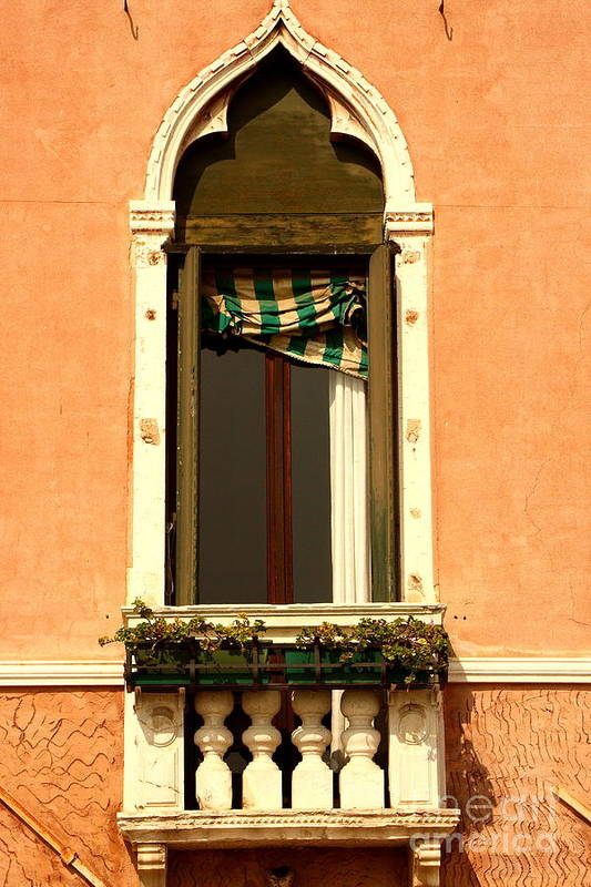 Venice Art Print featuring the photograph Window In Venice by Michael Henderson