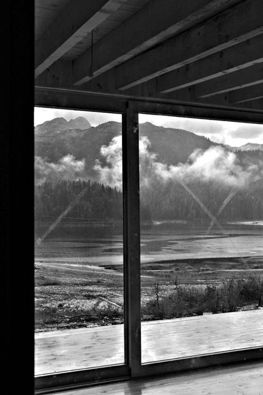 Lake Fog Black And White Art Print featuring the photograph Window by Nikola Ralevic