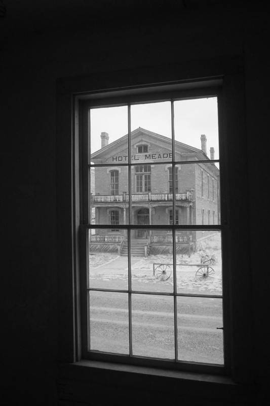 Bannack Mt Art Print featuring the photograph Window View by Carl Hinkle