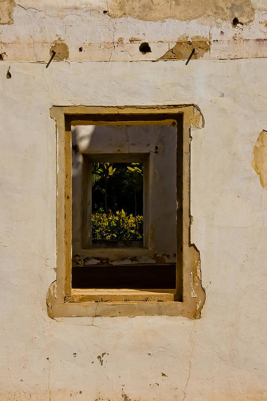 Building Art Print featuring the photograph Window View by Roger Mullenhour