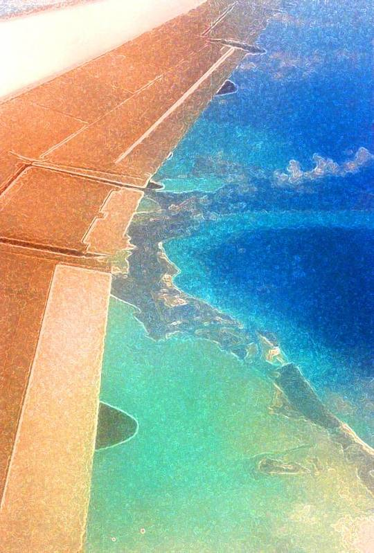 Flying Art Print featuring the photograph Wing Over The Caribbean by Lyle Crump