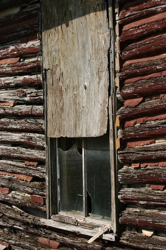 Art Print featuring the photograph Winslow Cabin Window by Curtis J Neeley Jr