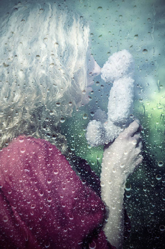 Woman Art Print featuring the photograph Woman And Teddy by Joana Kruse