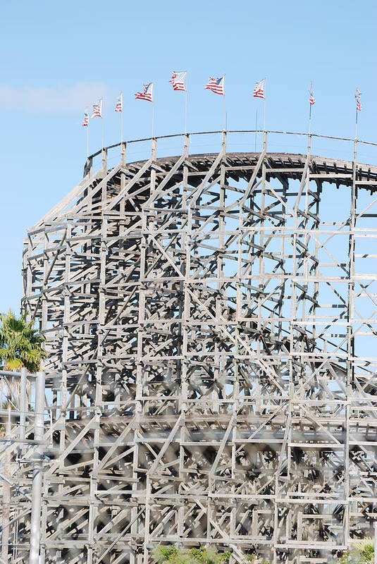 Pop Art Art Print featuring the photograph Wooden Coaster by Rob Hans
