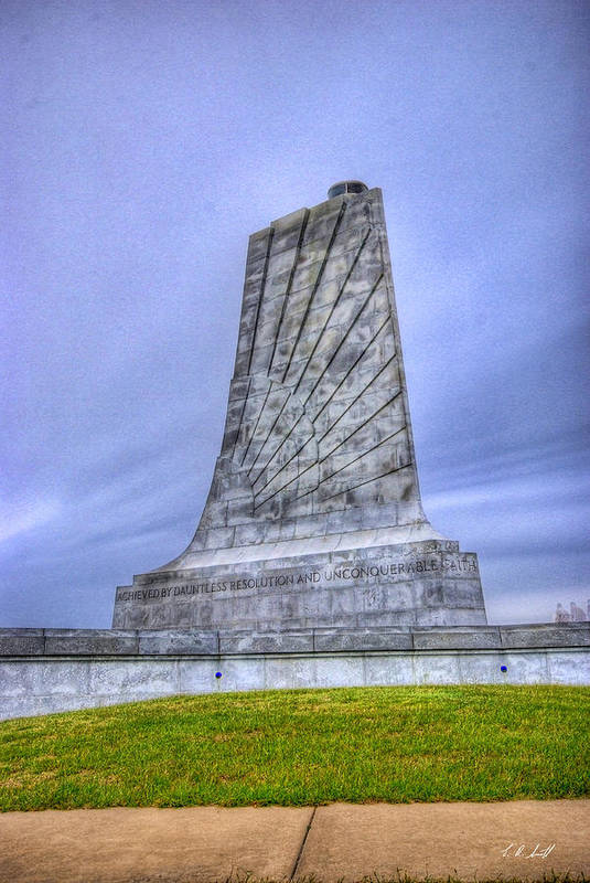 Monuments Art Print featuring the photograph Wright Brothers Memorial by E R Smith