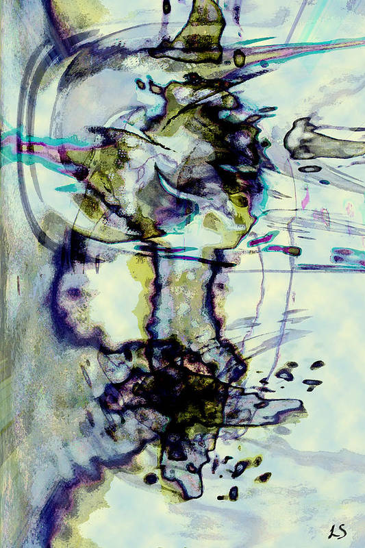 Digital Abstract Art Art Print featuring the digital art Xuan by Linda Sannuti