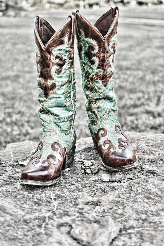 Boot Art Print featuring the photograph Yes Please by Sharon Popek