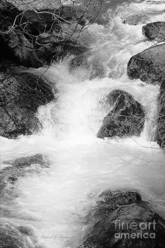 Yosemite Art Print featuring the photograph Yosemite Raging River Stream by Richard J Thompson