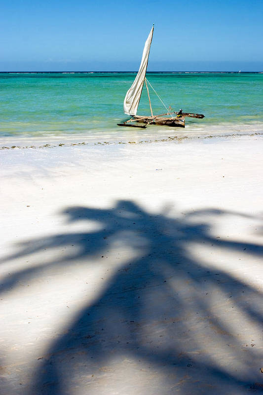 3scape Art Print featuring the photograph Zanzibar Beach by Adam Romanowicz