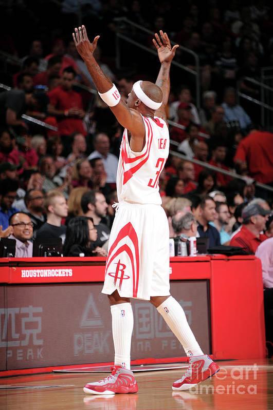 Jason Terry Art Print featuring the photograph San Antonio Spurs V Houston Rockets by Bill Baptist