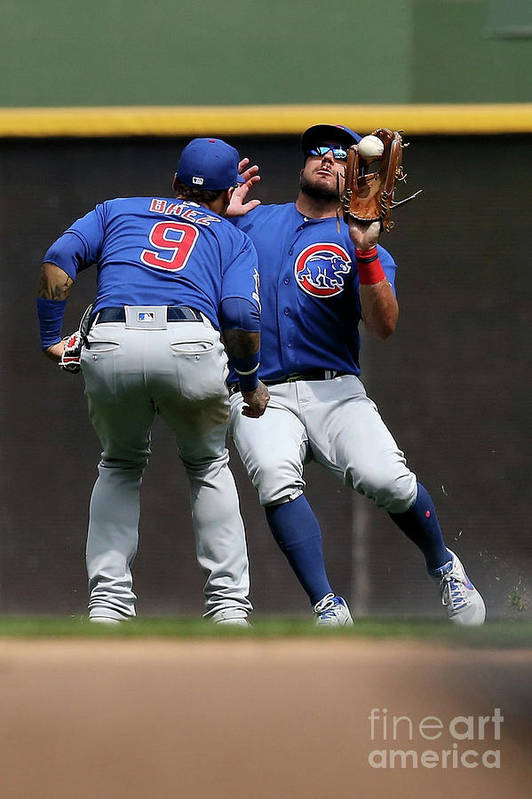 People Art Print featuring the photograph Chicago Cubs V Milwaukee Brewers 19 by Dylan Buell