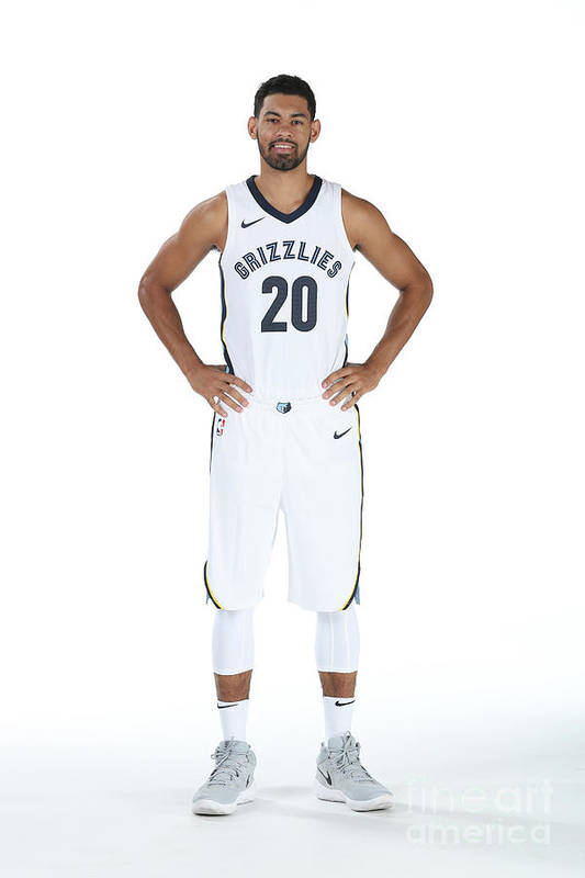 Media Day Art Print featuring the photograph 2017-2018 Memphis Grizzlies Media Day by Joe Murphy