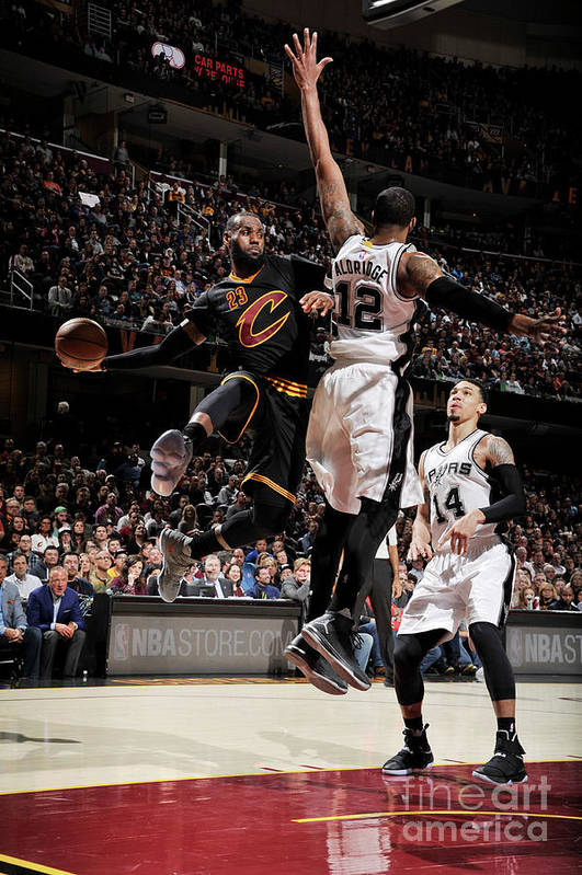 Nba Pro Basketball Art Print featuring the photograph San Antonio Spurs V Cleveland Cavaliers 2 by David Liam Kyle