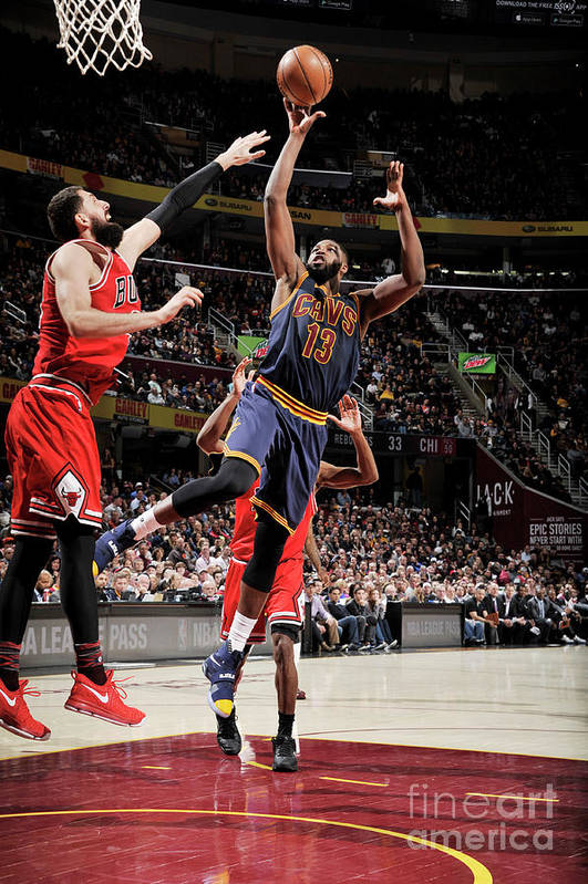 Nba Pro Basketball Art Print featuring the photograph Chicago Bulls V Cleveland Cavaliers 8 by David Liam Kyle