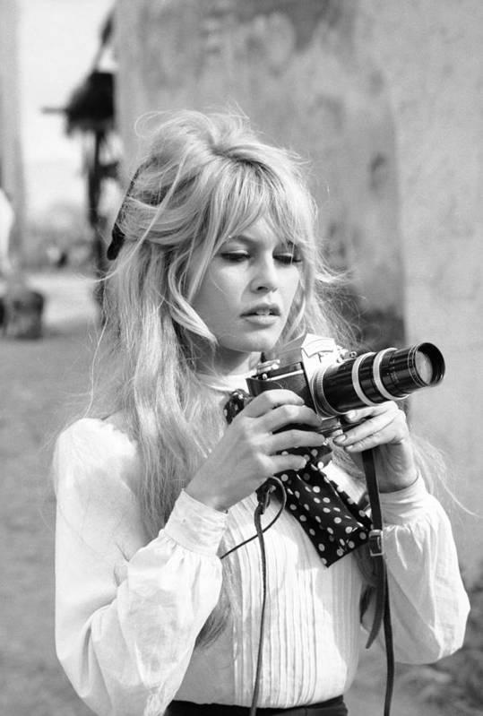Timeincown Art Print featuring the photograph Bardot During Viva Maria Shoot by Ralph Crane